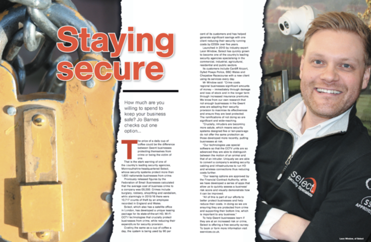 Select's MD Talks To The Business Magazine