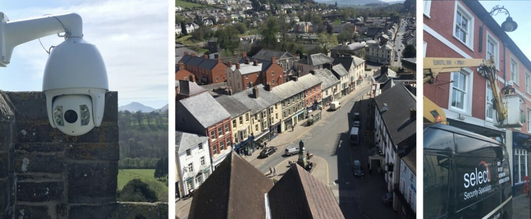 HD CCTV System for Brecon Town Centre and Dyfed Powys Police