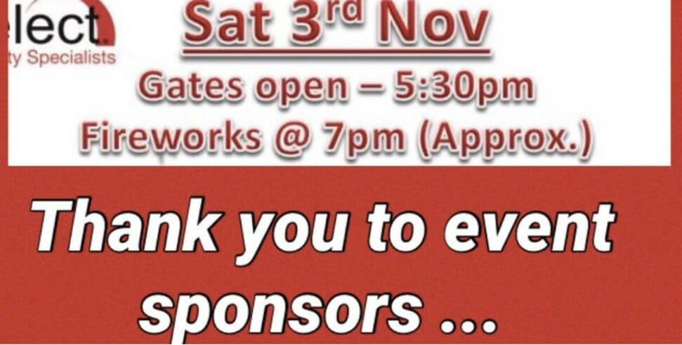 Select Sponsors Crickhowell Football Club's Fireworks Display